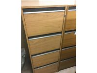 Three office filing cabinets