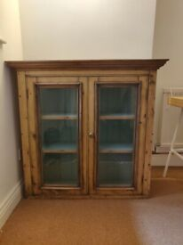Wooden Glass Fronted Wall Cabinet