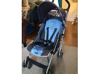 Maclaren Quest pushchair stroller with raincover & footmuff / cosy toes