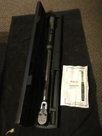 Snap on 1/2 techangle flexhead torque wrench digital