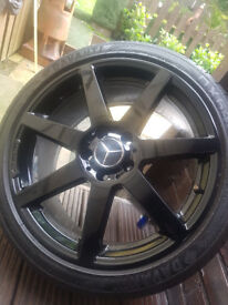AMG 18'' alloys gloss black x 4 with tyres