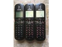 PHILIPS TRIO HOME TELEPHONES