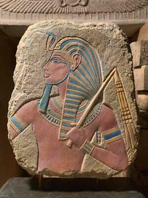 Egyptian art - King Tut / Tutankhamun relief sculpture carving replica