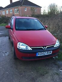 Red Vauxhall Corsa 1.0 NO MOT