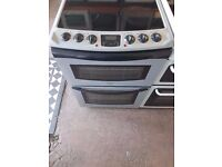 TRICITY BENDIX 60 cm Silver Electric Cooker - Double Oven & Grill - Silver Colour