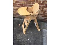 FS: Mothercare wooden highchair