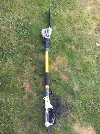 RYOBI ELECTRIC TELESCOPIC POLE HEDGE TRIMMER / VERY GOOD CONDITION