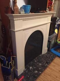 MDF Fireplace Surround & Marble Hearth