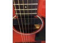 Fender acoustic guitar CD 60 with tweed case