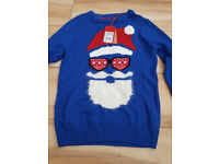 Santa Jumper by Next - Age 9 Years - Brand New