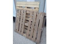 Two wooden pallets free