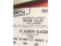 Bryson tiller standing ticket for Glasgow 20/10/17