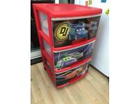 Lightning McQueen Drawers set by Curver £12. Scooter £4