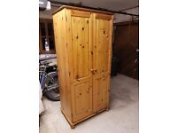 Free pine wardrobe, first come first serve, must be able to collect