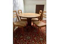 Nathan Extending Dining Table with 4 Chairs and 1 Stool