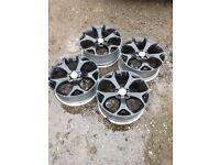 "17"" Vauxhall corsa vxr alloy wheels set of four"