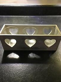 Love Heart Tealight/Votive Holder