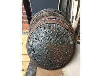3 x MANHOLE COVER AND FRAME