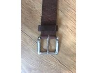 Brown leather belt - Marks n Spencer's- made in england