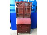 Bureau display cabinet with FREE DELIVERY PLYMOUTH AREA
