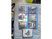 Far cry 4 Fallout4 Witches 3 PS4 Games collection