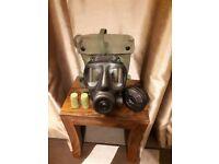 British Army S6 Gas mask respirator