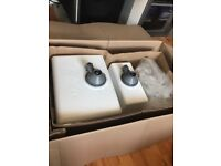 HELIO 1.5 OPAL WHITE SINK AND MIXER TAP