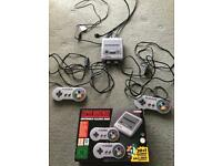 Mini Snes with controller extensions