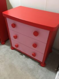 Immaculate drawers and book case