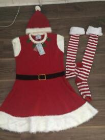 MRS CLAUS OUTFIT WITH TAGS