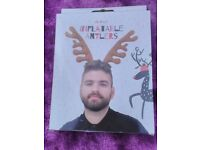 box 12 inflatable beards, / antlers christmas party fun