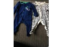 Two babygrows newborn and first Size
