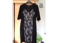 Two Brand new Scarlett & jo size 18, One Black and lace front dress , one Black and leopard front