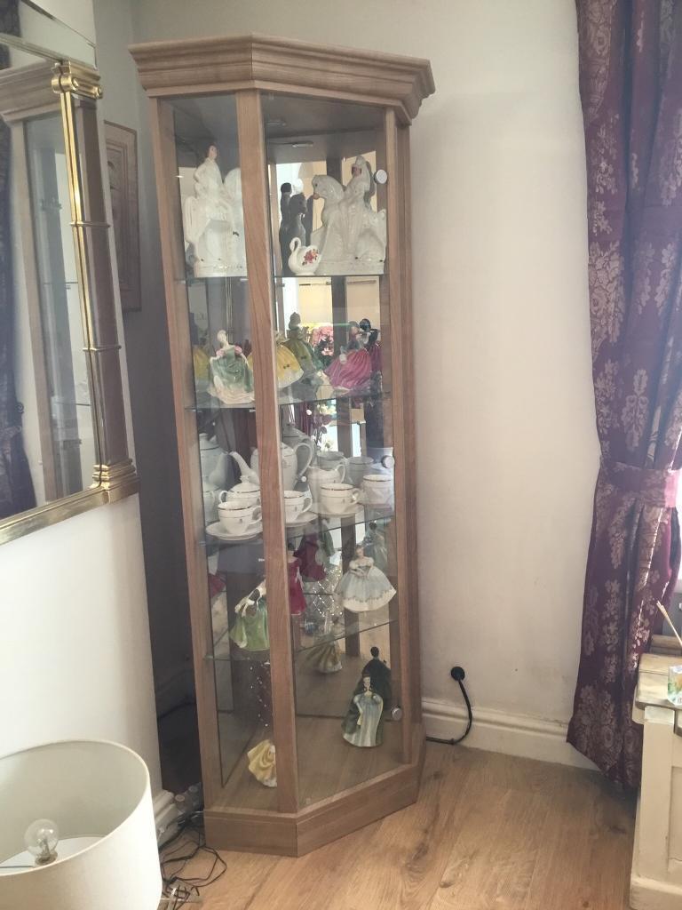 Light Oak Corner Display Cabinet In Neath Port Talbot Gumtree