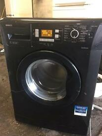 Black washing machine beko 7kg 1400rpm