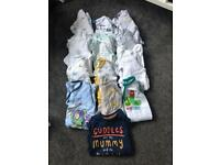 0-3 month baby boy clothes bundle - 78 items!