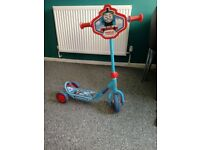Thomas the Tank Engine 3 wheeled scooter. Used but good condition.