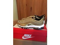 Nike Air Max 97 QS Gold Bullet - 2017 Size 8 UK Brand New
