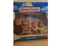 Sylvanian Monkey Family. Excellent condition, boxed