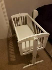 Mothercare White Swinging Crib