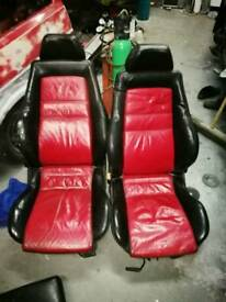 MK3 Golf red colour concept seats and door cards