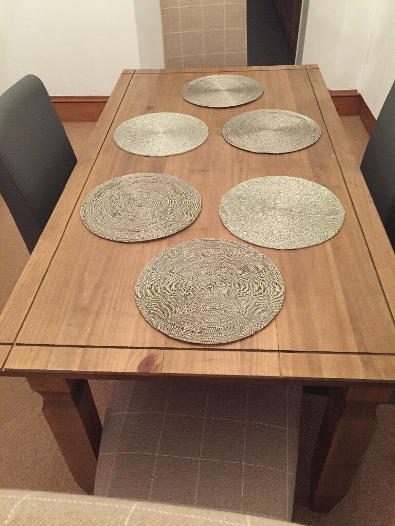 Wooden dining table 6 seater only 18months old TABLE ONLY