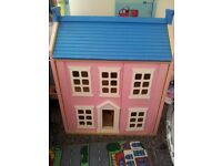 LARGE WOODEN DOLLS HOUSE AS NEW COST 150