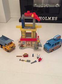 Bob the Builder Construction Playset with Rubble and Campervan