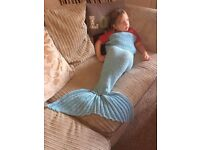 HAND KNITTED MERMAID TAIL ONLY A FEW DAYS LEFT TO BUY