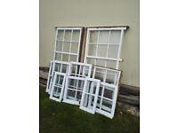 Solid mahogany single glaze window with glass
