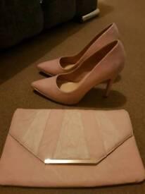 Newlook heels and clutch bag