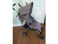 Mothercare Nano Grey & white Stripe Stroller Buggy Pushchair