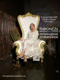 THRONE CHAIRS HIRE / SALES 💯% - 07464054406