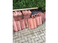 Double Roman roof tiles and hanging tiles new